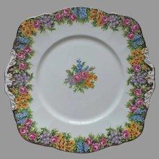Paragon Old English Garden Cake Serving Plate Vintage Bone China