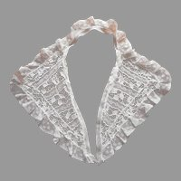 ca 1940s Lace Collar Needle Lace Valenciennes