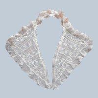 ca 1940s Lace Collar Needle Lace Valenciennes