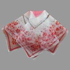 1920s Silk Chiffon Hankie Scarf Pocket Square Vintage