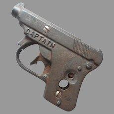 Cast Iron Cap Gun Kilgore Captain Vintage TLC