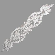 Macrame Lace Tape Braid Doily Vintage European Long Narrow