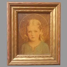 Mary Most Holy C. Bosseron Chambers 1930s Framed Print Small Catholic