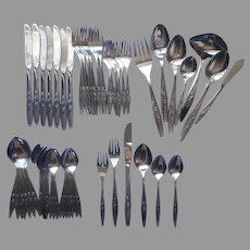 Full Service For 8 Northland Stainless Steel Set Flatware Vintage OHS62
