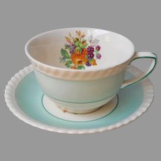Johnson Brothers California Pattern Fruit Cup Saucer Vintage England