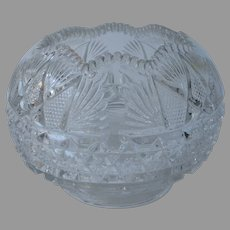Rose Bowl EAPG Pressed Glass Antique Large
