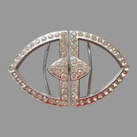 Art Deco Buckle Rhinestone Vintage 2 Piece For Dress