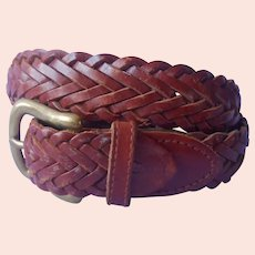 1990s Gap Braided Leather Belt Vintage Women's S