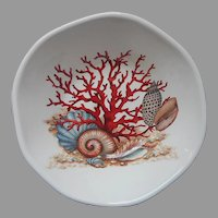 Effetti Italy Salad Bowl Coral Shells Retired