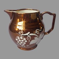 Copper Luster Pitcher Gray's Pottery England Vintage