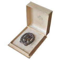 DRA Sports Badge Bronze Eugen Marcus Original Presentation Box Antique