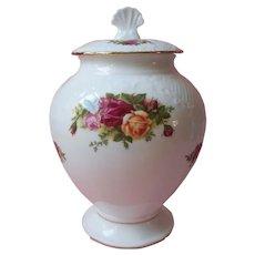 Royal Albert Old Country Roses Jar Canister Vintage Bone China