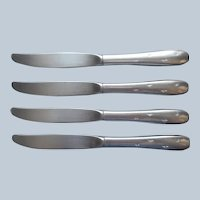 Atomic Wallace Bright Star 4 Dinner Knives Stainless Steel Vintage Flatware
