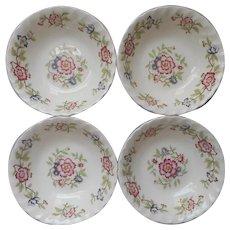 Franciscan Mandarin 4 Cereal Bowls Vintage