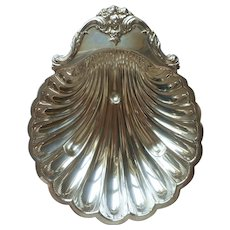 Classic Shell Shaped Silver Plated Serving Dish Bowl Vintage Webster Wilcox