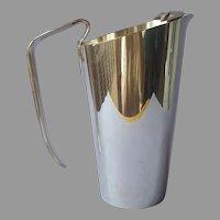 Napier Barware Pitcher Vintage Silver Plated Sleek Simple
