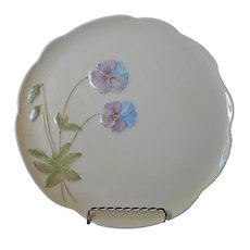 Royal Winton Grimwades Cake Plate Pansies Yellow Porcelain Hand Painted Vintage