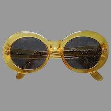 1980s Norma Kamali Glasses Frames Sunglasses Vintage Yellow
