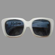1980s Claude Montana Glasses Sunglasses Frames Vintage White France