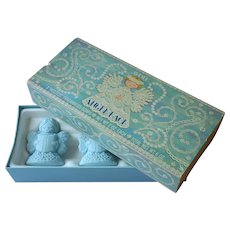 1975 Avon Angel Lace Guest Soaps In Box Vintage Blue