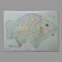 Mackenzie Childs Fish Story Tile Vintage