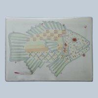 Mackenzie Childs Fish Story Tile Vintage