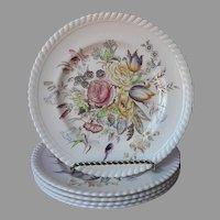 Johnson Brothers Garden Bouquet 4 Salad Plates Vintage England