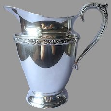 Exquisite 1957 Water Pitcher Silver Plated International Vintage