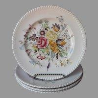 Johnson Brothers Garden Bouquet 4 Dinner Plates Vintage England