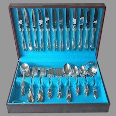 Reverie 1937 Flatware Set Service 12 Minus One Fork Silver Plated Vintage Box