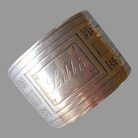 Libbie Engraved On Antique Silver Plated Napkin Ring
