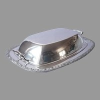 Silver On Copper Academy Convertible Covered Serving Dish Roses