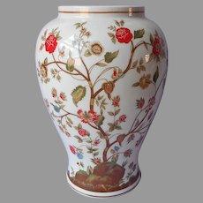 Andrea By Sadek Vase Porcelain Vintage White Orange Green Brown