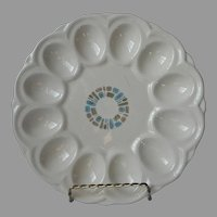 Canonsburg Temporama Deviled Egg Plate Vintage Mid Century TLC