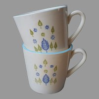 Marcrest Alpine Stetson Swiss Chalet 2 Cups Mugs Vintage
