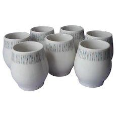 Jackstraws Pattern Syracuse Carefree China 7 Sugar Bowl Bases Use As Cups Vintage