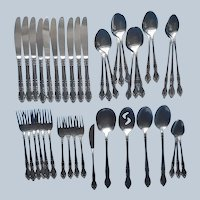 Towle Supreme TWS142 Stainless Steel Flatware Vintage 44 Pieces