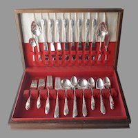 Endearable 1953 Set Silver Plated Flatware Service For 8 Oneida 60 Pieces