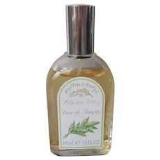1990s Crabtree and Evelyn Lily Of The Valley 3.4 Ounce Eau De Toilette Vintage
