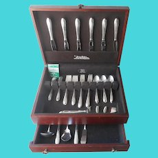 Set Gorham Invitation 1940 Service For 6 Flatware In Box Vintage Silver Plated Extras