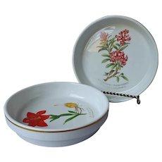Ginori Shallow Bowls Dishes Vintage Flora Spontanea Protetta owl Dish