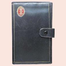 Italian Tooled Leather Wallet Vintage Mid Century Rosenfeld Black