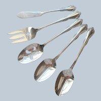 Mansfield Amadeus Serving Spoons Fork Butter Knife Oneida Stainless Steel Vintage