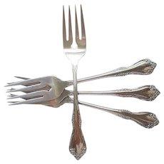 Mansfield Amadeus 4 Salad Forks Oneida Stainless Steel Vintage