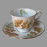 Aynsley Fern Ferns Cup Saucer English Bone China Vintage