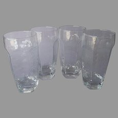 Libbey Chivalry Clear Tumblers 15 Ounce Set 4 Vintage