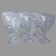 Libbey Chivalry Clear Wine Water Goblets Glasses 11 Ounce Set 6 Vintage