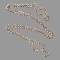 60 Inch Rope Twist Chan Vintage Doubling Gold Tone