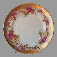 Royal Chelsea Golden Rose Bone China Tea Plate Vintage 8 Inch