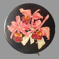 1950s 3 Lb Candy Tin Orchids Black Helen Harrison Chicago Illinois Vintage